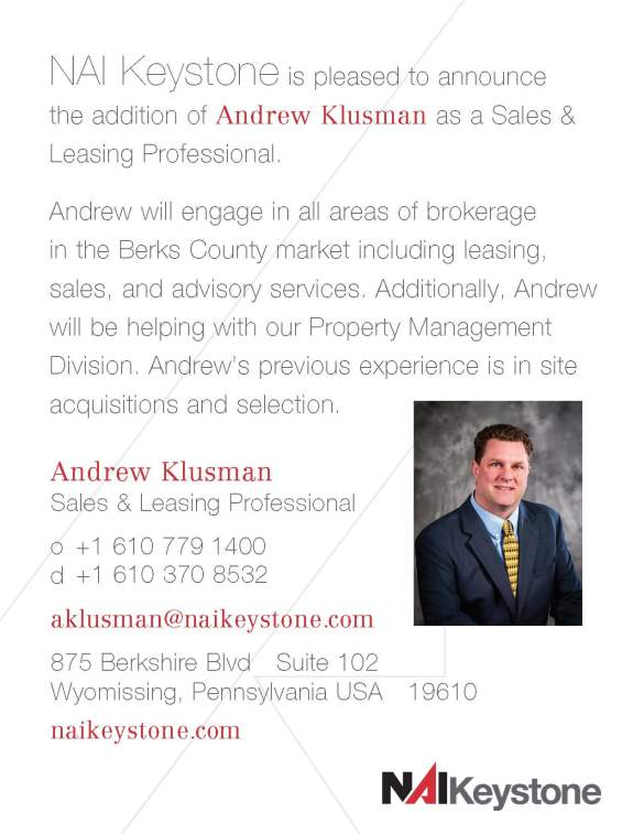 Andrew Klusman Announcement Card